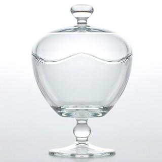 Bonbonnière design en verre - Diam. 13 cm