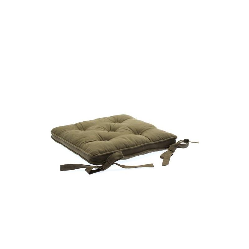 galette de chaise 5 boutons taupe decoandgo. Black Bedroom Furniture Sets. Home Design Ideas
