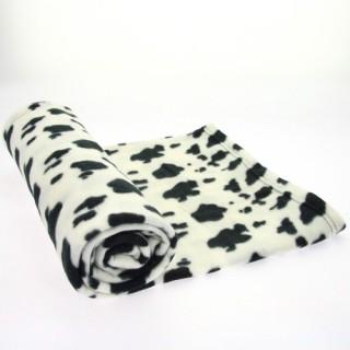 Plaid polaire Jungle - 130 x 160 cm - Taches blanches et noires