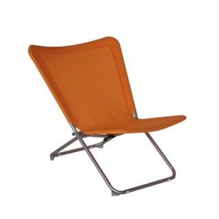 Chaise de jardin relax papillon Tutti Frutti - Texaline - Orange