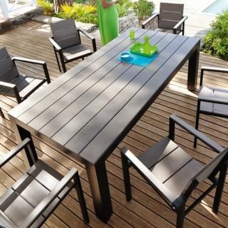Ensemble repas Seal Cay 7 pièces - Table + 6 chaises - Noir