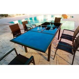 Ensemble repas Azua 7 pièces - Table extensible + 6 chaises - Noir