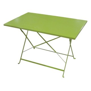 Table de jardin pliante Camargue - 110 x 70 cm - Vert