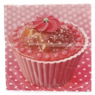 20 serviettes en papier - Cupcake