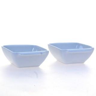 2 coupelles carrées - Porcelaine