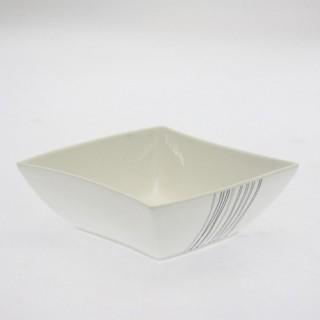 Coupelle en porcelaine - Diam. 15 cm - Lignes