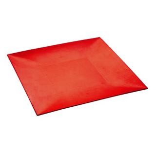 Assiette de présentation carrée - Rouge