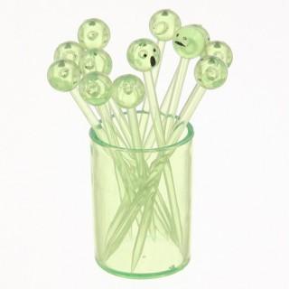 12 piques à cocktails sur support Tonic - Vert