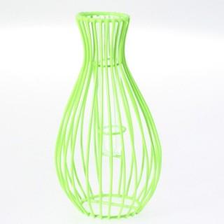 Vase décoratif - Fils métalliques - Haut. 20 cm - Vert