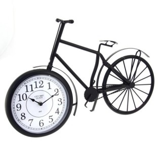 Pendule décorative Vélo - L. 49 cm - Métal