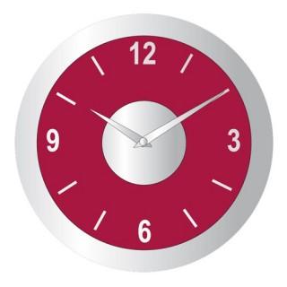 Pendule design en aluminium - Diam. 30 cm - Rouge