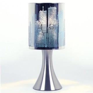 Lampe à pied New York Touch - Métal - Bleu