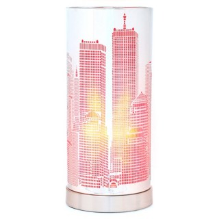 Lampe Touch cylindrique NYC - Métal - Rose