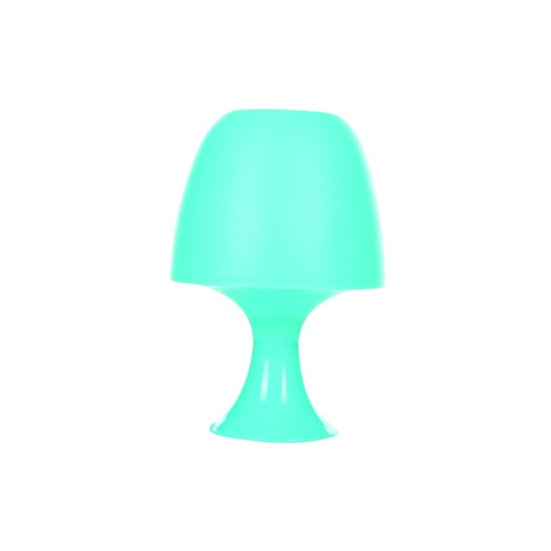 lampe champignon r tro plastique bleu decoandgo. Black Bedroom Furniture Sets. Home Design Ideas