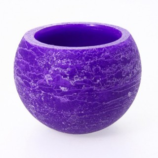 Photophore rustique - Violet