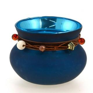 Photophore lumignon boule Ruban - Turquoise
