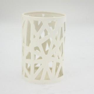 Lumignon en porcelaine ajourée - Diam. 10,5 cm