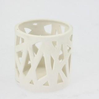 Lumignon en porcelaine ajourée - Diam. 7 cm