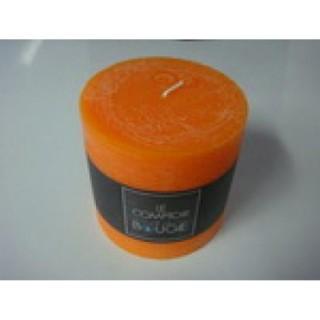 Bougie ronde Rustic - Diam. 10 cm - Orange