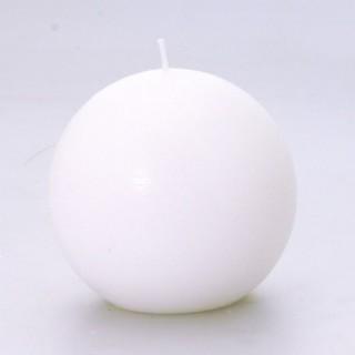 Bougie boule Rustic - Diam. 10 cm - Blanc