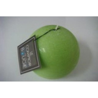 Bougie boule Rustic - Diam. 10 cm - Vert