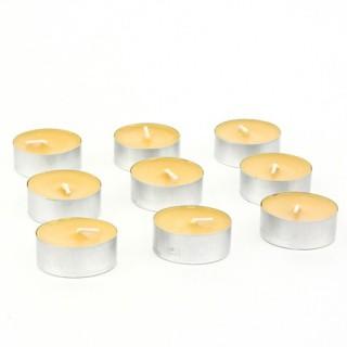 Lot de 9 bougies chauffe-plat - Orange
