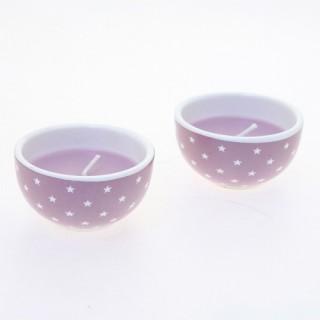 Bougie en pot - Céramique - Lilas foncé
