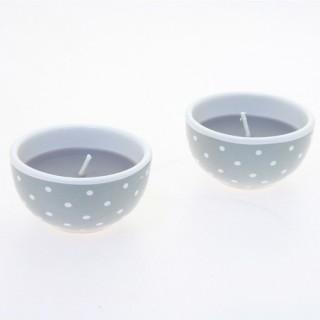 Bougie en pot - Céramique - Gris foncé