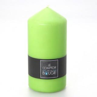 Bougie ronde - H. 14 cm - Vert