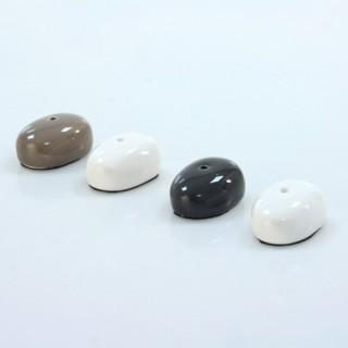 Lot de 4 supports à encens - Céramique - Blanc, taupe et gris