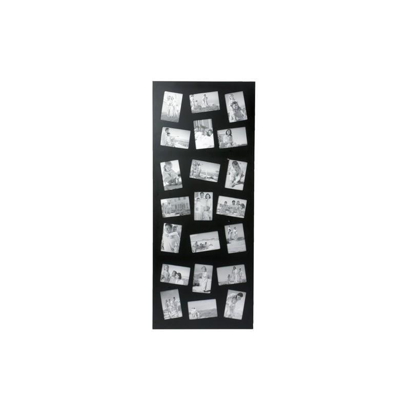 cadre photos p le m le g ant design 21 encarts noir decoandgo. Black Bedroom Furniture Sets. Home Design Ideas