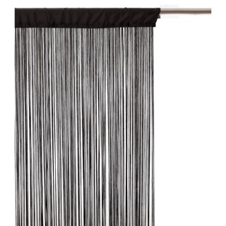 Rideau fils - 120 x 240 cm - Noir
