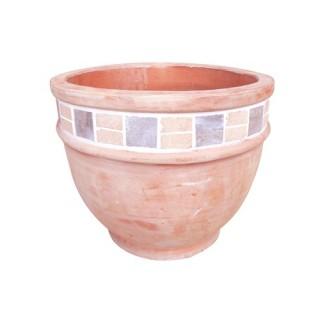 Cache-pot Terracotta arrondi bas - Céramique - Diam. 37 cm