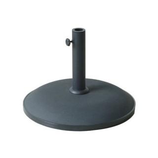 Pied de parasol - Béton - 25 Kg - Noir