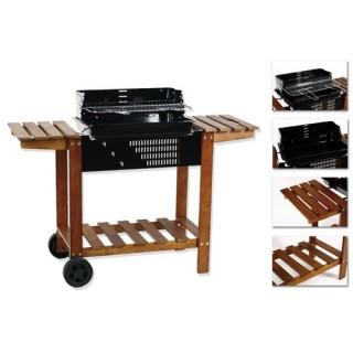 Barbecue à charbon Etretat - Bois et acier époxy