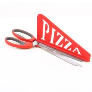 Ciseaux à pizza - Inox - Rouge
