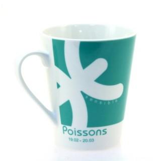 Mug en porcelaine Zodiaque - Poisson