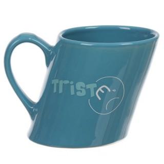 Mug penché Humeur- Faïence - Bleu