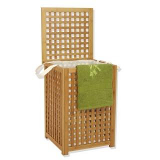 Panier à linge - Toile en polyester - Gamme bambou