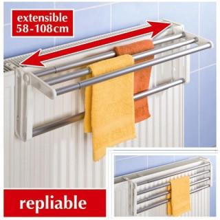 Porte serviette pour radiateur  Butterfly - Aluminium - L. 58/108 cm