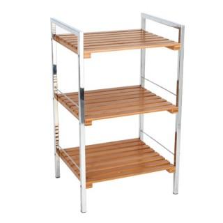 etag re de salle de bain 5 niveaux bambou blanc decoandgo. Black Bedroom Furniture Sets. Home Design Ideas