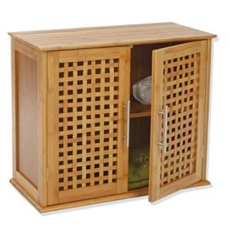 Etagère de salle de bain - 2 portes - Gamme bambou