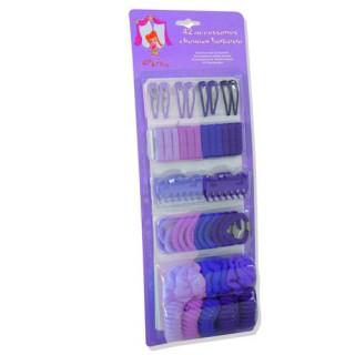 Set 42 accessoires cheveux fantaisie - Violet