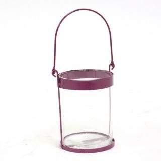 Lanterne colorée - Metal - Violet
