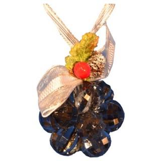 Fleur de noël en acrylique 12 perles - Gris