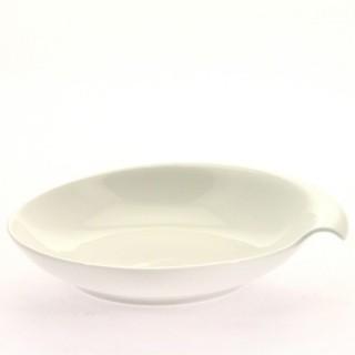 Coupelle en porcelaine décorée - Coquillage - Diam. 19 cm