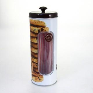 Boîte pour paille Cookie - Métal - Quantité 50