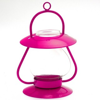 Lanterne décorative Essentiel - Verre soufflé - Rose