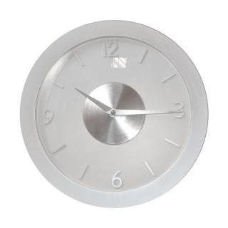 Pendule design en aluminium - Diam. 30 cm - Blanc