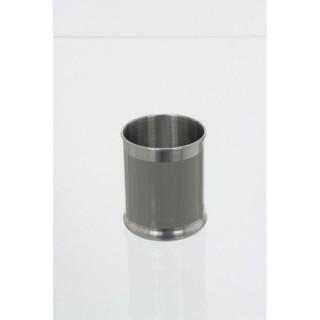 Verre de salle de bain en métal - Gris